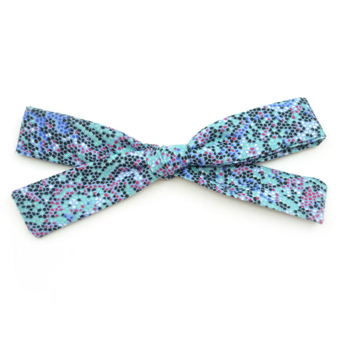 Mint & Black Pixels Leni Bow