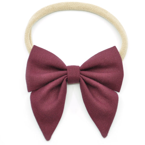 Burgundy Elle Bow, Toddler Hairclip