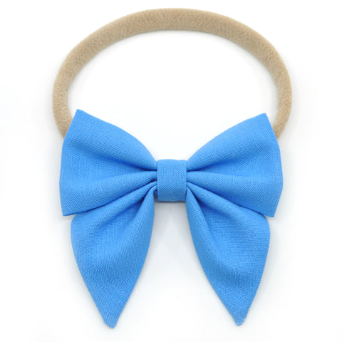 Carolina Blue Elle Bow, Toddler Hairclip