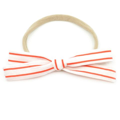 Candy Cane Stripe Leni Bow, Infant or Toddler Hair Bow