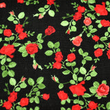 Black & Red Roses Bow Tie OR Anna Bow