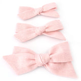 Pink Shimmer Evy Bow, Newborn Headband or Clip