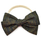 Ebony & Gold Tinsel Rona Bow