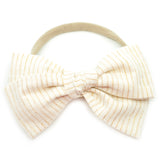 Ivory & Gold Tinsel Rona Bow