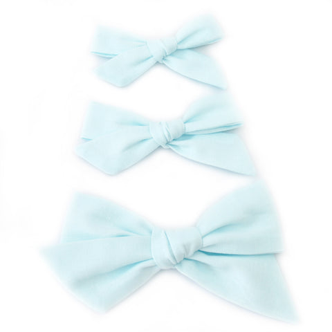 Sea Glass Evy Bow, Newborn Headband or Clip