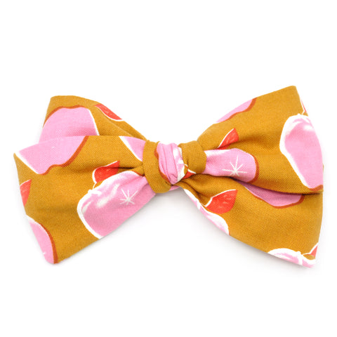 Mustard & Pink Apples Rona Bow