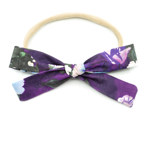 Purple Floral Leni Bow