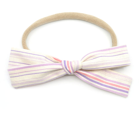 Lavender & Pink Stripes Leni Bow