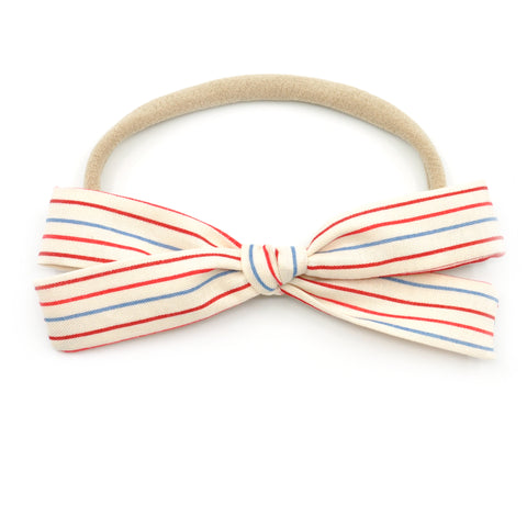 Notebook Paper Striped Leni Bow
