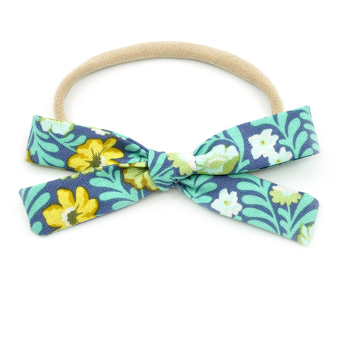 Turquoise Tropical Floral Leni Bow