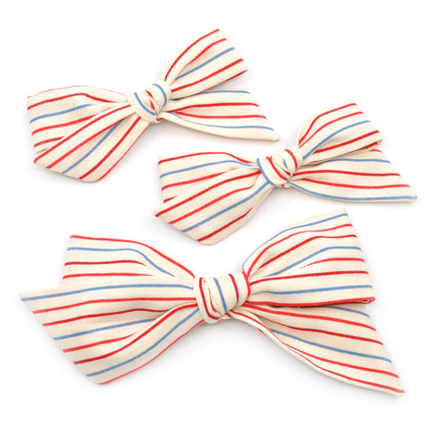 Notebook Paper Striped Evy Bow, Newborn Headband