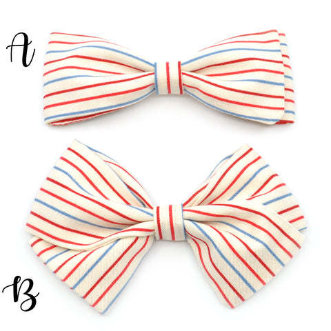 Notebook Paper Striped Bow Tie OR Anna Bow