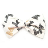 Black & Metallic Big Bows Rona Bow