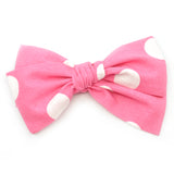 Pink & White Large Polka Dot Rona Bow