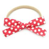 Strawberry Red & White Polka Dot Leni Bow