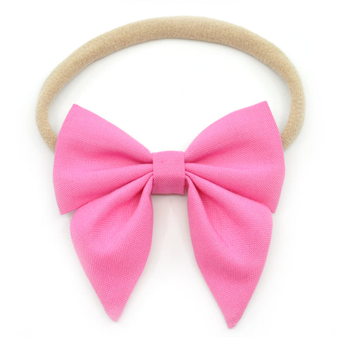 Pink Elle Bow, Toddler Hairclip