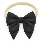 Black Elle Bow, Toddler Hairclip