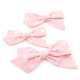 Baby Pink & White Polka Dot Evy Bow, Newborn Headband