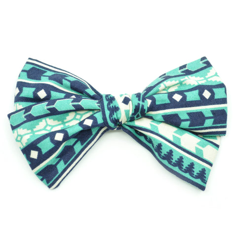 Teal Aztec Rona Bow
