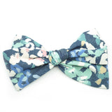 Denim Blue Floral Rona Bow