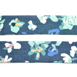 Denim Blue Floral Bow Tie OR Anna Bow