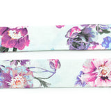 Ice Blue & Purple Floral Bow Tie OR Anna Bow