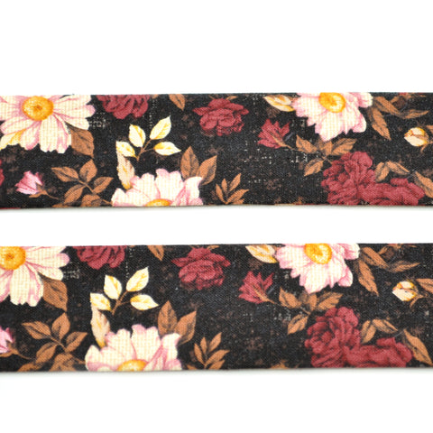 Burgundy Floral Bow Tie OR Anna Bow