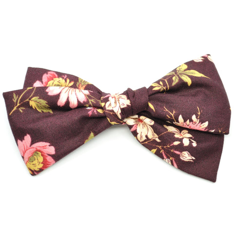Mulberry Floral Rona Bow