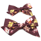 Mulberry Floral Evy Bow, Newborn Headband