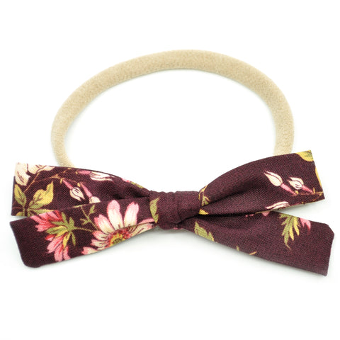 Mulberry Floral Leni Bow