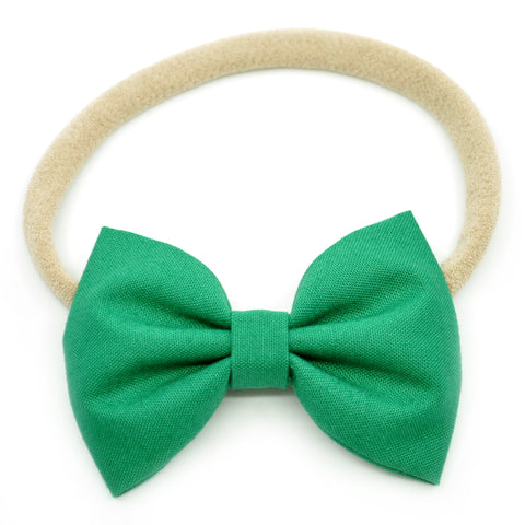 Emerald Green Belle Bow, Tuxedo Bow