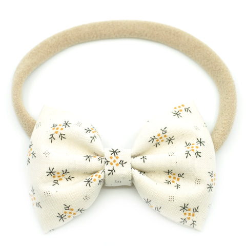 Ivory Fall Sprigs Belle Bow, Tuxedo Bow