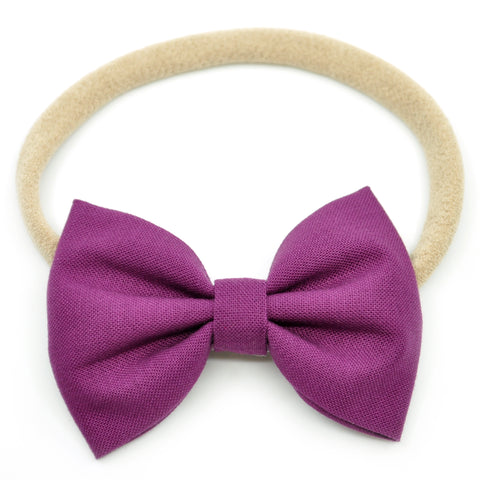 Plum Purple Belle Bow, Tuxedo Bow