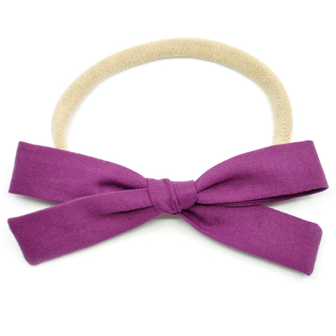 Plum Purple Leni Bow