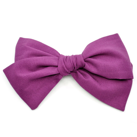 Plum Purple Rona Bow
