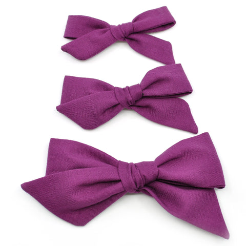 Plum Purple Evy Bow, Newborn Headband