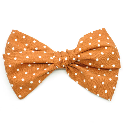 Cinnamon Polka Dot Rona Bow