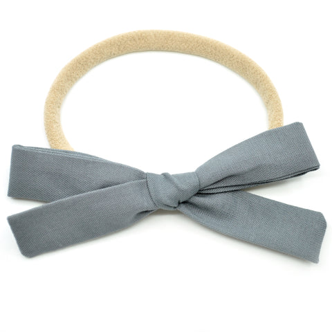 Pewter Gray Leni Bow
