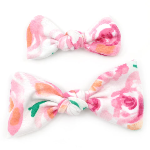 Pink Roses Knot Bows