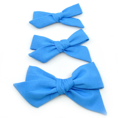 Carolina Blue Evy Bow, Newborn Headband