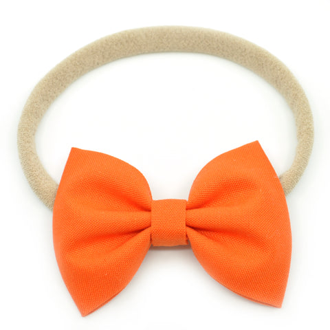 Orange Belle Bow, Tuxedo Bow