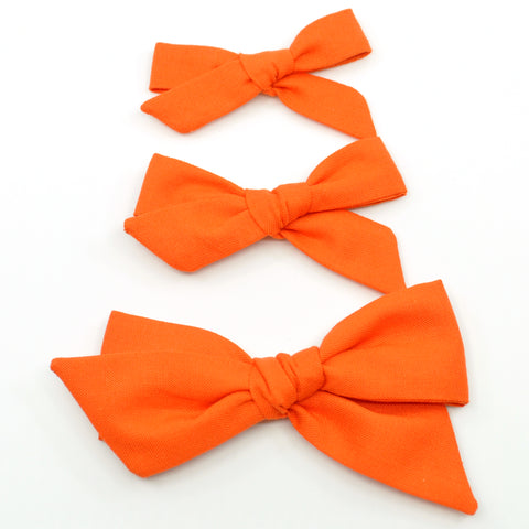 Orange Evy Bow, Newborn Headband