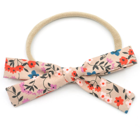 Wheat Floral Leni Bow, Headband or Clip