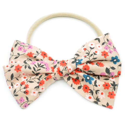 Wheat Floral Rona Bow