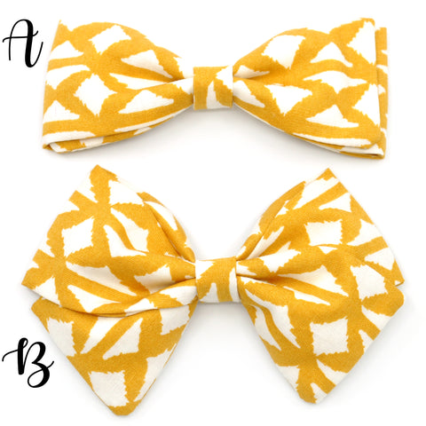 Geometric Mustard Bow Tie OR Anna Bow