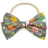 Charcoal Harvest Floral Rona Bow