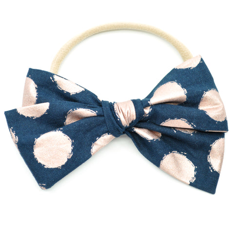 Rose Gold Polka Dot Rona Bow