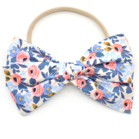Rosa in Periwinkle Rifle Paper Co Rona Bow