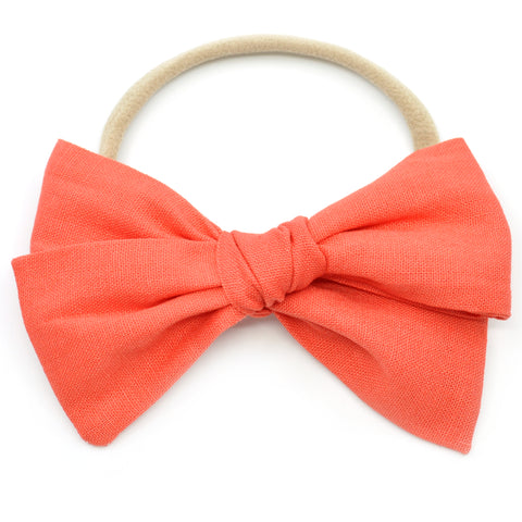 Campfire Orange Linen Rona Bow