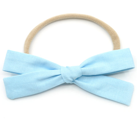 Ice Blue Leni Bow, Headband or Clip